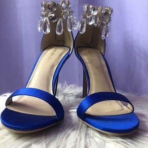 Royal Blue Heeled Sandals